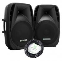 Pronomic PH15A coppia Casse attive MP3 / Bluetooth 200/350 Watt