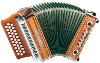 "Alpenklang accordion ""Mini"" 3-row, B-Es-As solid cherry wood"