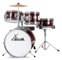 XDrum Junior Kinder Schlagzeug inkl. Schule + DVD - Retoure (Zustand: akzeptabel)