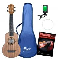 Flight TUS50 Salamander Travel Sopran Ukulele Set