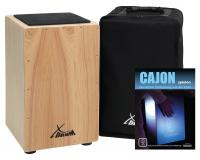 XDrum Cajon Primero nature méthode d'apprentissage & housse comprises