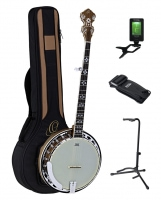 Ortega OBJ550W-SNT Falcon Banjo Nat. Walnuss Set