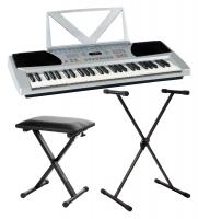 FunKey 54 keyboard zilver SET incl. keyboardstand + bank