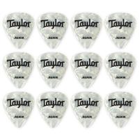 Taylor Celluloid 12er Pack Plektren Wht Pearl 0,46