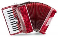 "Classic Cantabile 48 Bass Akkordeon ""Secondo V"" Rot - Retoure (Zustand: sehr gut)"