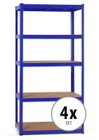 4x Set Stagecaptain HR-175 BU Heavyrack estantería de madera Azul
