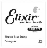 Elixir Bass Einzelsaite 105XL Extra Long Scale Nanoweb