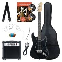 Rocktile Banger's Power Pack SET guitare électrique, 7 pièces Black
