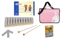 Sonor Früherziehungsset mit Tina und Tobi-Heft, GP Glockenspiel, rosa Notentasche und Stifte