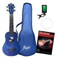 Flight TUS35 DB Travel Sopran Ukulele Set Dark Blue