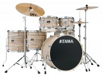 Tama IE62H6W-NZW Imperialstar Drumkit Natural Zebrawood Wrap