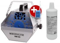 Showlite BM-60 machine à bulles de savon, y compris fluide rouge