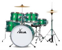 XDrum Session Junior Pro Set de batterie Emerald Green Sparkle (4-9 ans)
