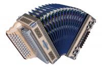 Kärntnerland Silber Waldheimat blau Harmonika 4/III G-C-F-B