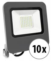 Showlite FL-4050 NW LED Foco reflector IP65 50 Watt 4000 Lumen blanco-neutro set de 10