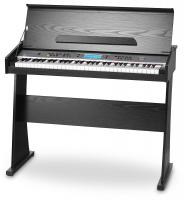 FunKey DP-61 II Keyboard mit 61 Tasten im Digitalpiano-Design, schwarz