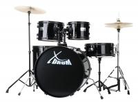 """XDrum Rookie 22"""" Fusion Schlagzeug Komplettset Black inkl. Schule + DVD - Retoure (Zustand: sehr gut)"""