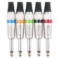Pronomic connector set jack 6.35 mm 5 pcs color