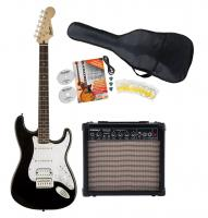 Fender Squier Bullet Strat HSS IL BK Starter SET