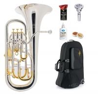 Lechgold Supreme EU-310S euphonium verzilverd Deluxe set