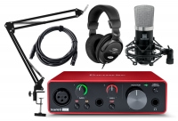 Focusrite Scarlett Solo 3rd Gen 2.2 Audiointerface Podcast Set