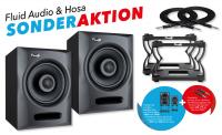 Fluid Audio FX80 Aktiv Studiomonitor Paar inkl. DS8 Set