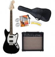 Fender Squier Bullet Mustang HH IL BLK Starter Set