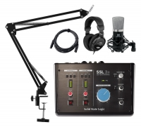 SSL 2+ USB-C Audio-Interface Podcast Set