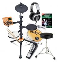 Carlsbro ROCK50 Junior E-Drum Kit Komplettset mit Kopfhörer, Hocker, Schule und Sticks