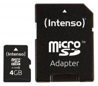 Intenso microSD Card 4 GB Class 10