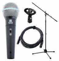 Pronomic DM-58-B Vocal Mikrofon Starter Set Mikro, XLR Kabel, Klemme, Stativ