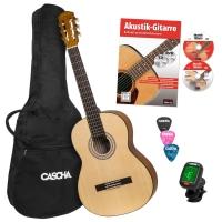 Cascha Student Series 4/4 Konzertgitarre Bundle