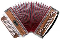 "Alpenklang 4/III Harmonika ""Deluxe"" F-B-Es-As Nuss - Retoure (Zustand: sehr gut)"