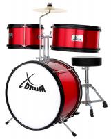 XDrum Junior KIDS Schlagzeug inkl. DVD rot - Retoure (Zustand: akzeptabel)