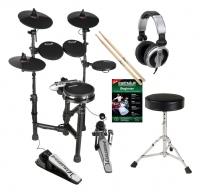 Carlsbro CSD131M E-Drum Kit Komplettset mit Kopfhörer, Hocker, Schule und Sticks