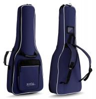 Rocktile Custodia semirigida imbottita per chitarra 1/2 con spallacci ? colore blu