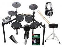 Carlsbro CSD401 E-Drum Kit Komplettset mit Kopfhörer, Hocker, Schule und Sticks