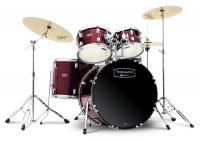 Mapex Tornado Studio Drumset Red mit Zildjian Beckensatz