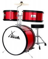 XDrum Junior KIDS Schlagzeug rot - unvollständig!