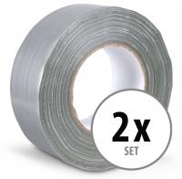 Stagecaptain DT-4850G-PRO Gewebeband Klebeband Gaffa Tape 50m 2er Pack Grau