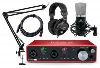 Focusrite Scarlett 4i4 3rd Gen 4.4 Audiointerface Podcast Set