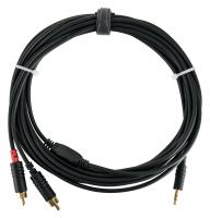 Pronomic Stage J3RC-6m câble audio 3,5mm stéréo jack/cinch 6 m noir