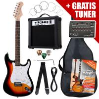 Affare! Set Rocktile Banger - chitarre elettrica con accordatore, sunburst