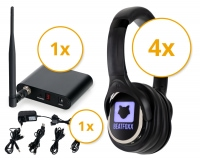 Beatfoxx SCBS-41 Silent Disco V2 Band Set with 4 Headphones and 1 Transmitter