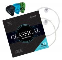 Shaman Classical Strings for Concert Guitar Incl. 2 Spare Strings and 3 Picks