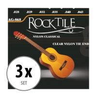 Rocktile klassieke gitaarsnaren 3-pak
