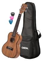 Cascha Premium Konzert Mahagoni Linkshänder Ukulele Set
