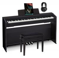 Casio PX-870 BK Privia Digitalpiano schwarz Set inkl. Pianobank, Kopfhörer & Schule