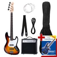 Rocktile Groovers Pack JB Set basse électrique (Sunburst)