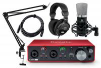 Focusrite Scarlett 2i2 3rd Gen 2.2 Audiointerface Podcast Set
